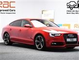 Audi A5 2.0 SPORTBACK TFSI QUATTRO BLACK EDITION S/S 5d 208 BHP