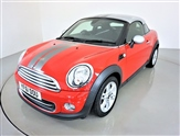 Mini Coupe 1.6 COOPER 2d 120 BHP-HALF LEATHER SEATS-MULTIFUNCTION STEERING WHEEL-ROOF AND MIRROR CAPS IN SILVER