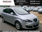 Seat Altea Xl 1.6 TDI Ecomotive 5 Door Diesel MPV In Silver (£30 Road Tax)